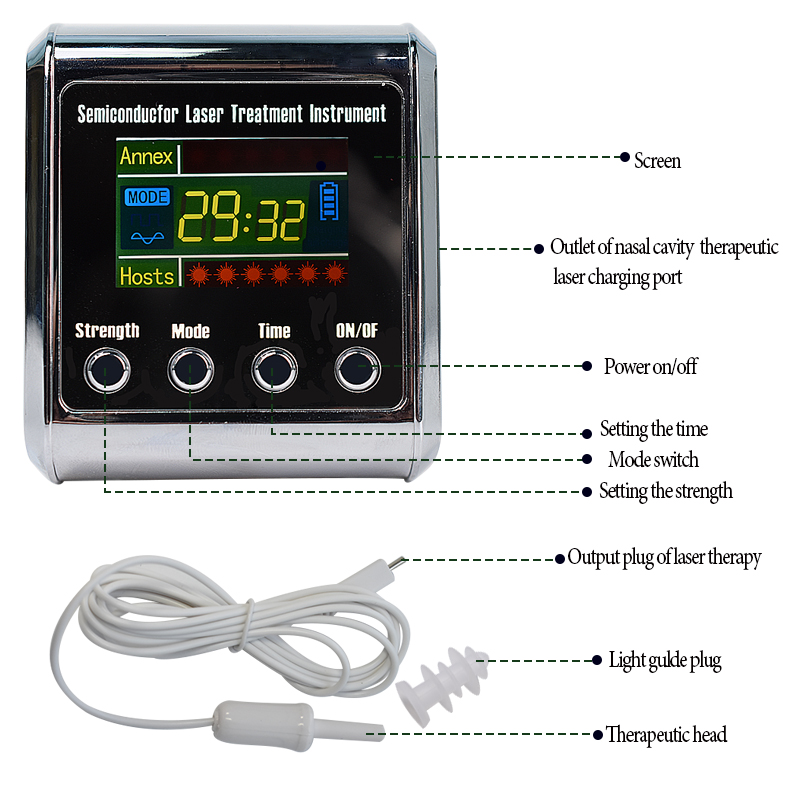 Diode 650nm Laser Therapy Watch LLLT For Rhinitis Diabetes Hypertension Thrombosis Cholesterol Laser Irradiation Instrument diode 650nm laser lllt physiotherapy therapy watch for diabetes cholesterol hypertension cerebral thrombosis rhinitis treatment