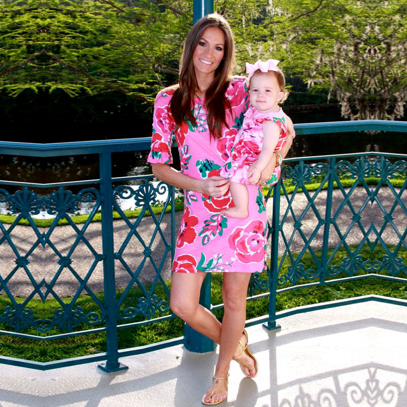 Chinese Style Mother Daughter Dresses 2019 Floral Print Half Sleeve Mother & Kids & Baby Fashion Summer MOMMY AND ME WORLDWIDE