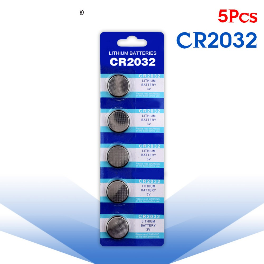 YCDC 5 Pcs Button battery 3V Lithium Coin Cells Button Battery 5004LC ECR2032 CR2032 DL2032 KCR2032