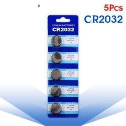 YCDC 5 Pcs bateria Botão 3V Células de Lítio Coin Botão Bateria 5004LC ECR2032 CR2032 DL2032 KCR2032 EE6227