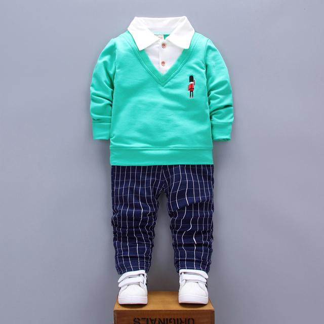 2017 Primavera Outono bebê menina/menino roupas Casuais Crianças Esporte Terno 2 pcs conjuntos para recém-nascidos do bebê roupas de menina roupa infantil