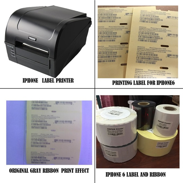 Imei label printing solution for IOS mobile phone 6/6s barcode printer machine provide professional technical support hot sale