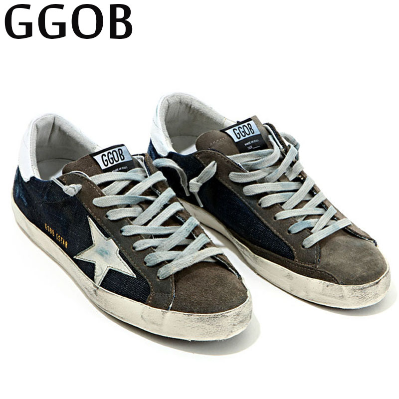 GGOB 2018 Womens Flats Casual Shoes Female Plus Size Outdoor Walking Genuine Leather Blue Fashion Woman Brand Flat With Sneakers forudesigns fashion women flat shoes female teens girls floral print casual flats breathable walking shoes for woman plus size