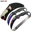 Swayboo doppler cs go karambit Походный нож  выцветающий  контр страйк  черный мачете  тактический нож с фиксированным лезвием  инструмент для улицы