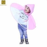 Children Raincoat Umbrella Rain Coat UFO Kids Camping Transparent Hat Rain Coat Kids Capa De Chuva Infantil Impermeable LKR179