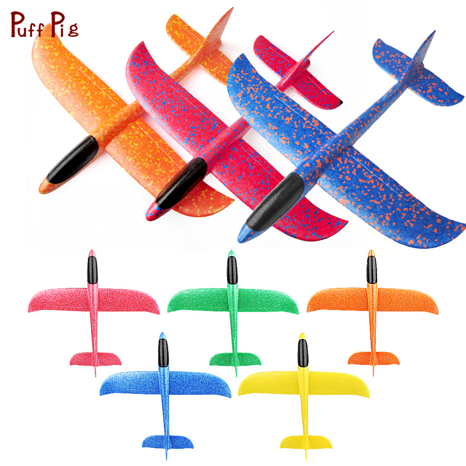 49CM Hand Throw Flying Glider Planes Kids Outdoor Toys EPP Foam Airplane Model Party Bag Fillers Fun Toys for Kids Game Gifts portable soft small mini outdoor golf throw and catch flying discs goal games for kids adults toys