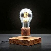 ICOCO Wood Magnetic Levitating Lamp Night Light Floating Wireless Bulb Lamp Room Decor Home Office Desk