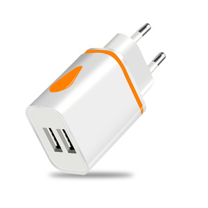 Image 5 - Dual USB מטען 5V 2.1A נייד טלפון מטען עבור iphone סמסונג Huawei Xiaomi Redmi LED אור טעינת מתאם קיר מטענים