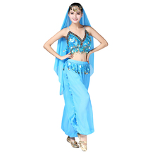 3pcs/Set Belly Dance Oufit Adult Bellydance Dress Bollywood Costume Gypsy Girls Clothes Indian Dancing