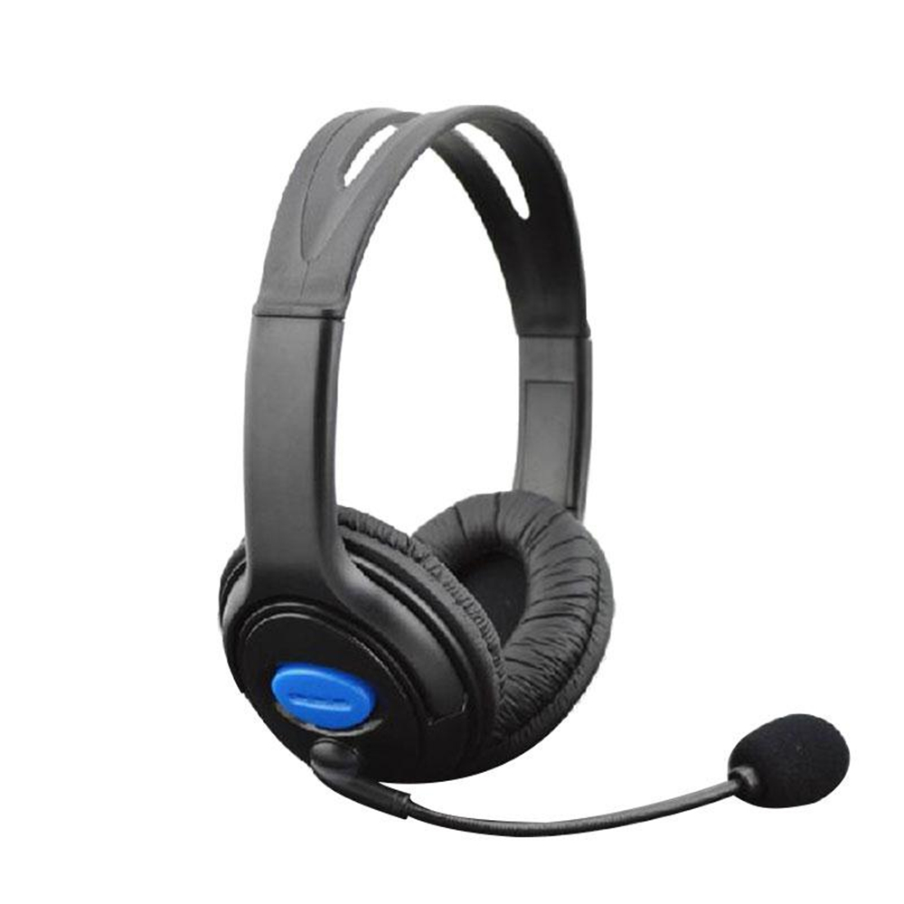 BCMaster Wired Stereo Headset Headband Headphone for Sony PS4 PS3 Earphone with Mic Microphone Superbass Black Game Earphones
