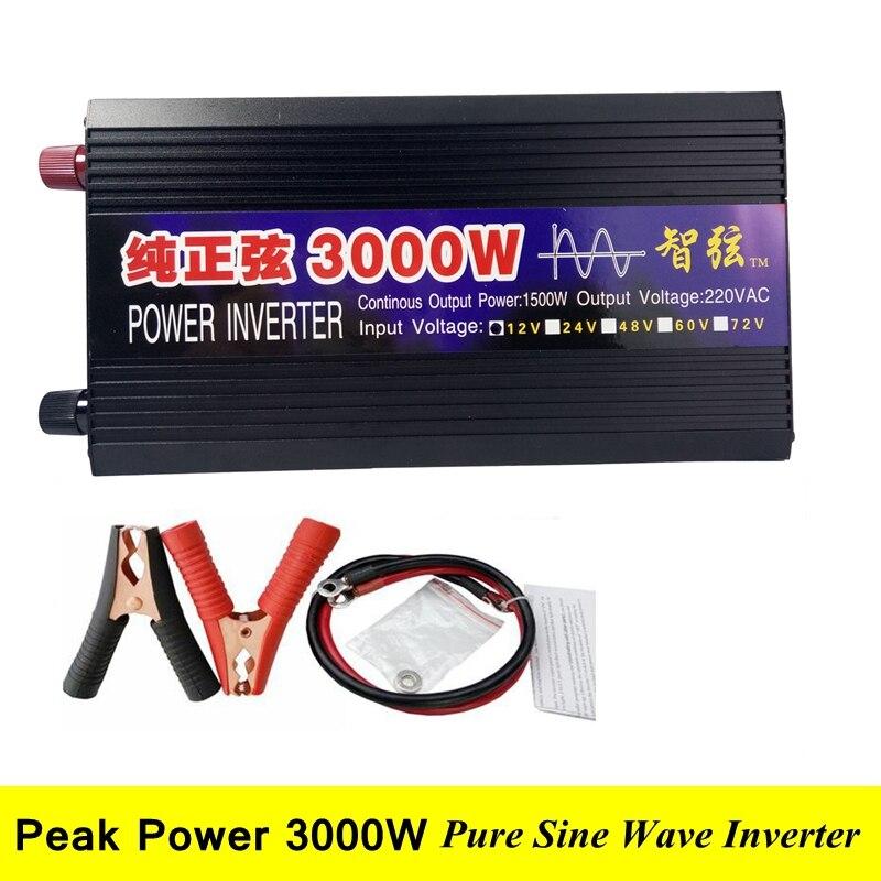 SUCHWORK Spitzen 3000 watt Reine Sinus Welle OFF Grid Inverter DC 12 v/24 v zu AC 220 v 50 hz/60 hz Inverter für Solar System Garantie 2 jahre