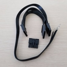 Antec HCP 850 SATA ספק כוח מודולרי כבל 5Pin 3 x SATA מתאם ספליטר כוח הארכת כבל עבור BTC הכורה DIY 50 + 2x15cm