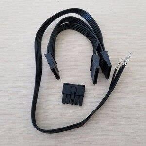 Image 1 - Antec HCP 850 SATA modüler güç uzatma kablosu 5Pin 3 x SATA adaptörü Splitter güç uzatma kablosu BTC madenci DIY 50 + 2x15cm