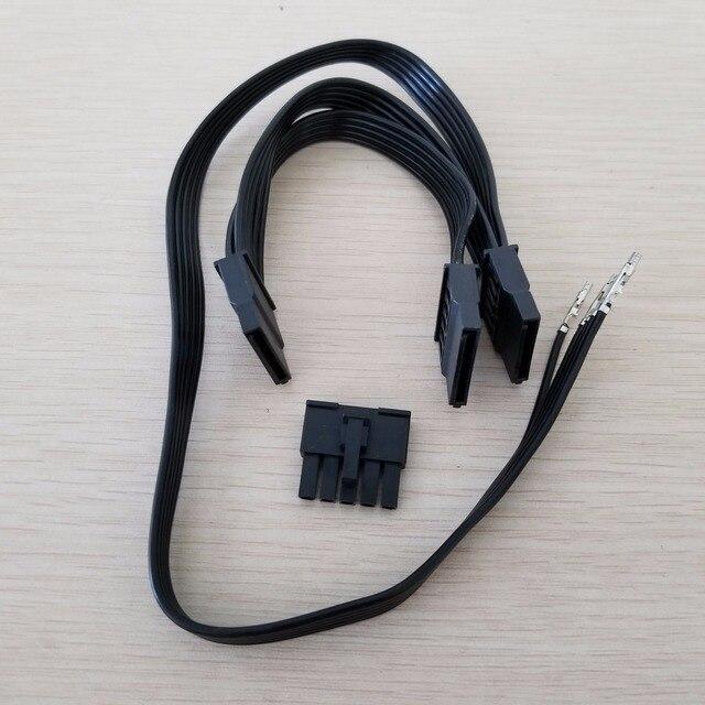 Antec HCP 850 SATA modüler güç uzatma kablosu 5Pin 3 x SATA adaptörü Splitter güç uzatma kablosu BTC madenci DIY 50 + 2x15cm