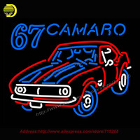 67 Camaro Car Logo Neon Sign American Automotive Neon Bulb Neon Signs Glass Tube Handcrafted Free