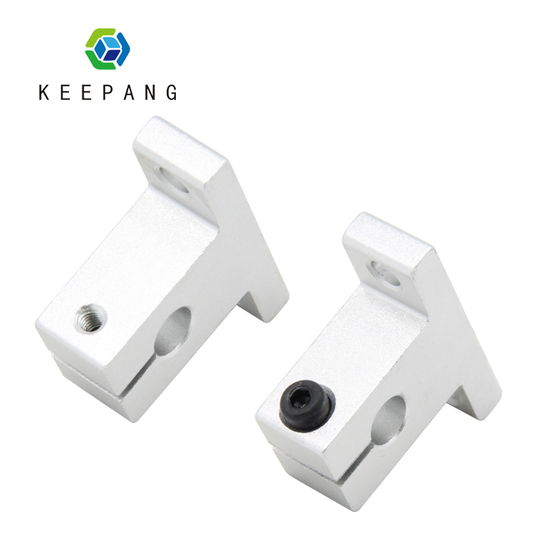 1PC Light Rod Bearing Linear Optical Axis Bracket 3D Printer Parts Fixed Spport Seat SK8 SK10 SK12 Aluminum Support Shaft