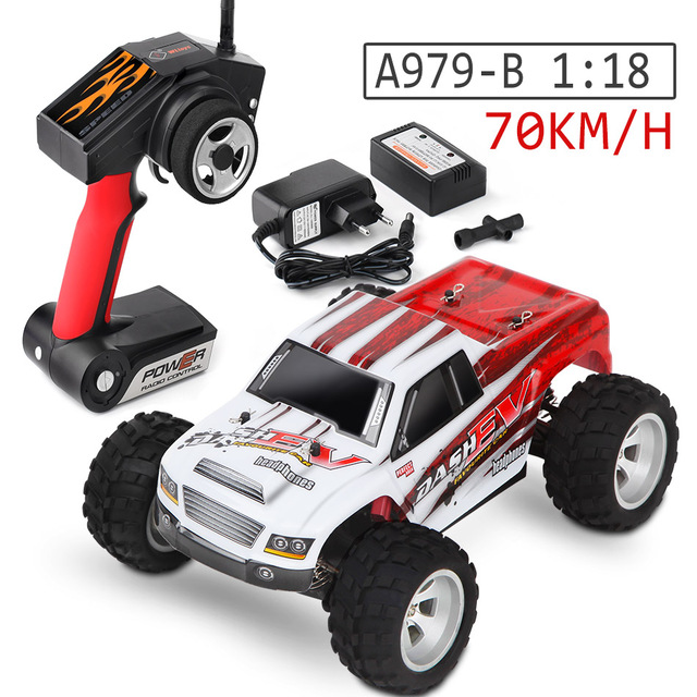 Wltoys RC Car 70KM/H 1/18 4WD A979-B RC Car A979 2.4G Radio Control Truck RC Buggy Highspeed Off-Road RTR Toys VS wltoys 12428 free shipping wltoys a232 1 24 2 4g electric brushed 4wd rtr rc car off road buggy xmas gifts rc toys kid s toys gift