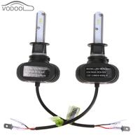 2Pcs Universal H1 LED Car Auto Headlamp Bulbs Automobiles Light Emitting Diode 6000K White Headlight Light