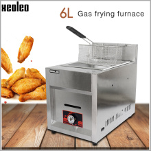 XEOLEO Commercial gas Fryer LPG Stainless steel Deep fryer Single tank French/Chicken fries fryer Restaurant/Kitchen equipment electric 6l fryer commercial home use french fries commercial 2000w stainless steel countertop deep fryer single tank basket