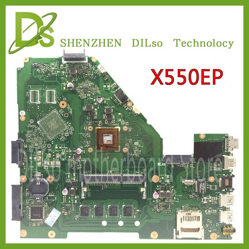 KEFU X550EP оригинальная X550E X550EA X552E X552EA материнская плата X550EP материнская плата A4 процессор 4G память на плате тест ОК