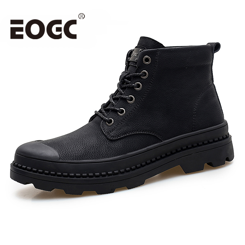 Brand Warm Men Boots Autumn Winter Genuine Leather Men Waterproof Snow Boots Work Safety Ankle Boots Men Leather Boots