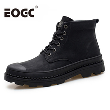 Brand Warm Men boots Autumn Winter Genuine Leather Waterproof Snow Boots Work Safety Ankle leather