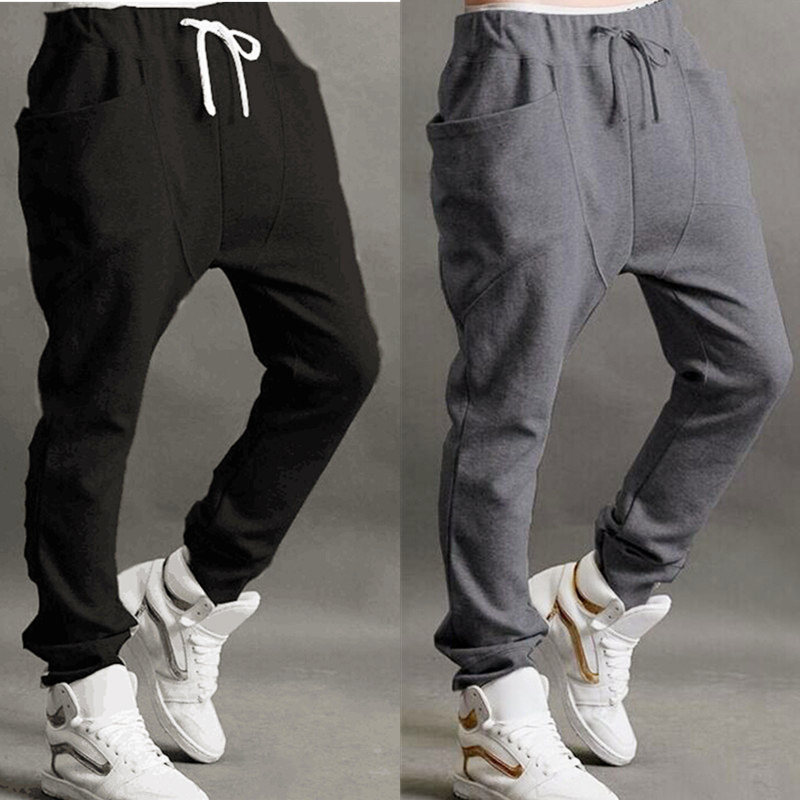 Men Pants Fashion-Brand Male Trousers Skinny Harem Baggy Casual New Slacks Hot-Sale