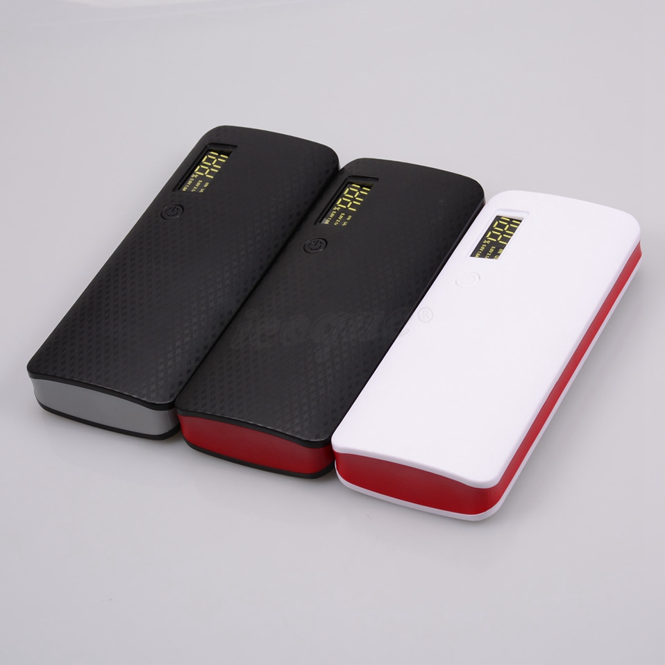 18650 Power Bank 10000mah (No Battery) DIY Case Phone Charge Box LED Flashlight Poverbank 3 USB 5x18650 Powerbank Pover Bank (1)