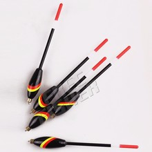 5 pcs/set Black Balsa kit Wood Fishing Bobber Cork Float Stopper Glow 3+2G 17.5CM pesca Fishing  Tools