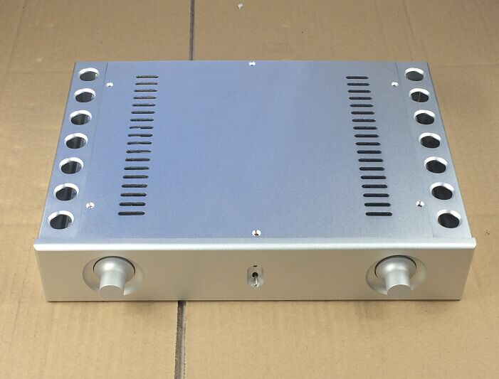цена на case 321*62* 230mm BZ3206A Silver all aluminum chassis preamp / DAC / Integrated Amplifier chassis /AMP Enclosure /case/DIY box