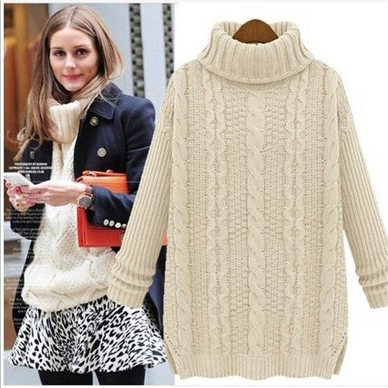 2017 New Fashion Sweater Female Thick Long Women Turtlenecks ...