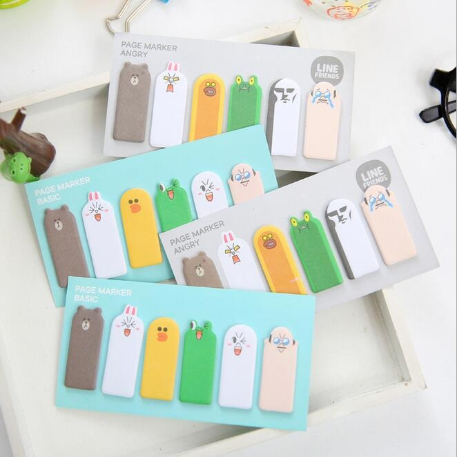 1pack/lot Lovely Finger Animal Design Memo Sticky Note Writing Scratch Pad Office School Supplies