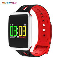 Interpad Lover Band With Pedometer Colorful OLED Smart Bracelet Heart Rate Monitor Fitness Tracker Smart Band