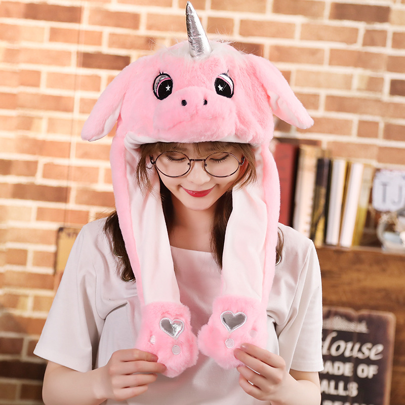 Newly Cute Plush Funny Playtoy Ear Up Down Rabbit Pikachu Unicorn Kawaii Gift Toy For Kids Girls Girlfriend