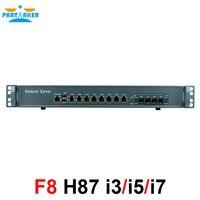 Intel i3 4160 3,6 ГГц Mikrotik PFSense рос Wayos 1U случае межсетевого экрана маршрутизатор с 8 портами Gigabit lan 4 SPF
