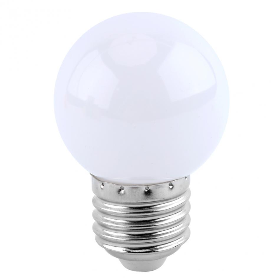 2w E27 Led Light Bulb Multicolor Round