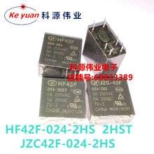 Relé JZC- HF42F-024-2HS 2HST 24VDC 5A 6PIN