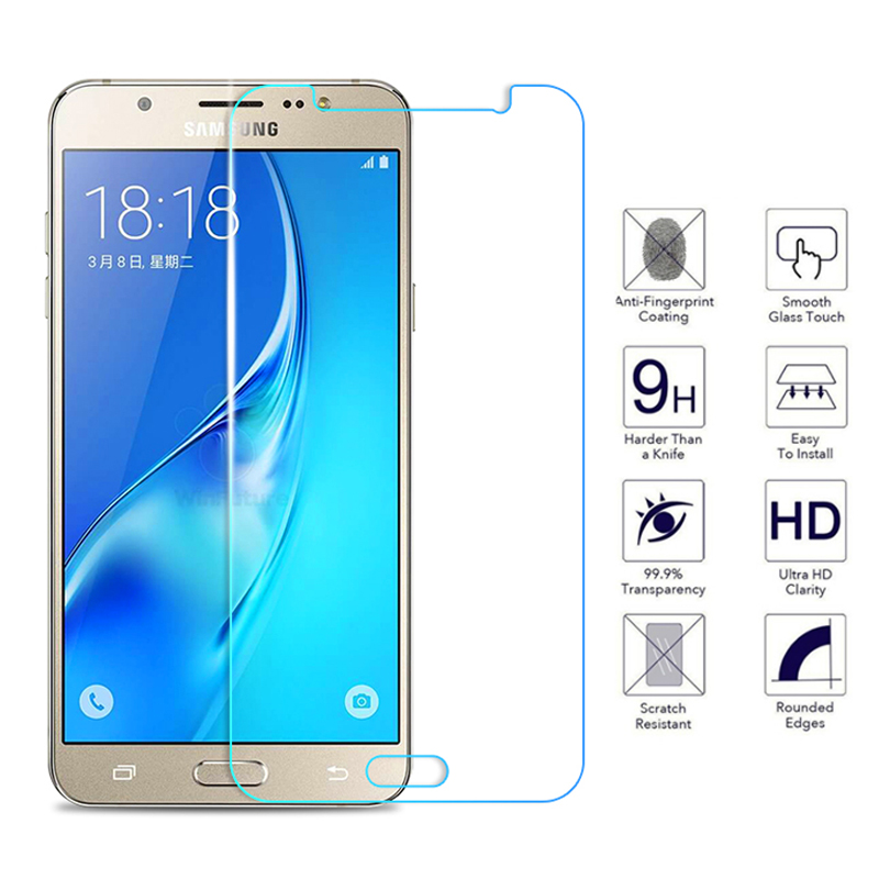 Tempered Glass On The For Samsung Galaxy J3 J5 J7 A3 A5 A7 2015 2016 2017 2018 Protection Glas Screen Protector Protective Film-in Phone Screen Protectors from Cellphones & Telecommunications
