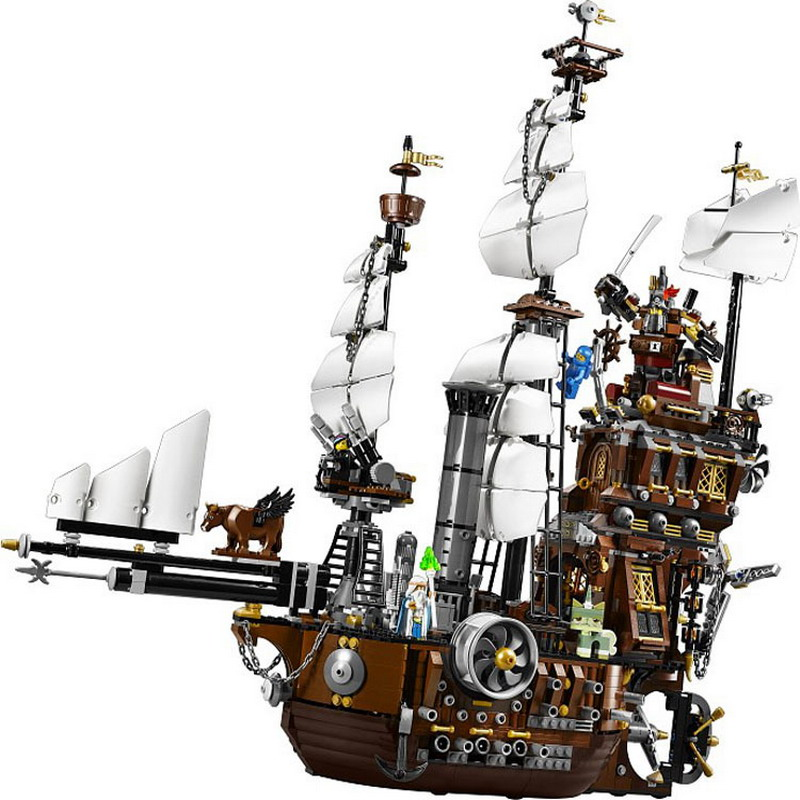 WAZ Compatible Legoe Pirate Ship Series 70810 Lepin 16002 2791pcs Metal Beard's Sea Cow building blocks bricks toys for children lepin 16002 pirate ship metal beard s sea cow model building kit block 2791pcs bricks compatible with legoe caribbean 70810