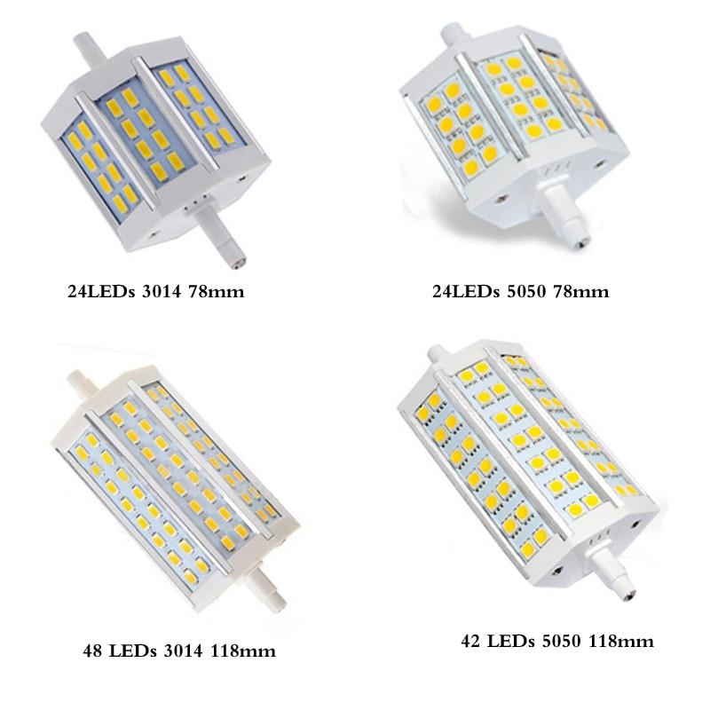 R7S LED Lamp NO Dimmable MD 5050 SMD5730 LED R7S 78mm J78 118mm J118 LED Light Bulb Replace Halogen Floodlight 180 Degree high power 78mm 118mm 138mm led r7s light 12w 20w 30w j78 j118 j138 r7s lamp without fan replace 150w halogen lamp ac110 240v
