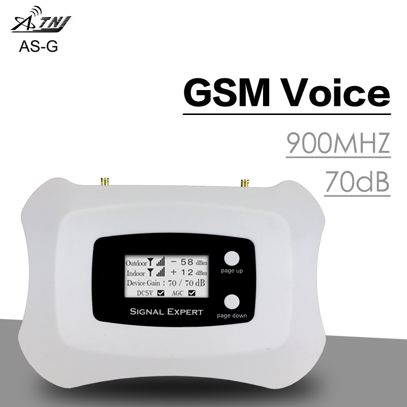 Smart LCD Display GSM 900 Mobile Phone Signal Repeater GSM 900MHz Cellular Signal Amplifier Booster Antenna 70dB Gain AGC MGC CE