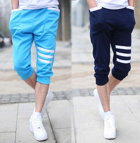 EAS 2016 Summer Hot Casual Mens s Capri Cropped Harem Sweatpants Jogger Trousers Harem Hip Hop Shorts