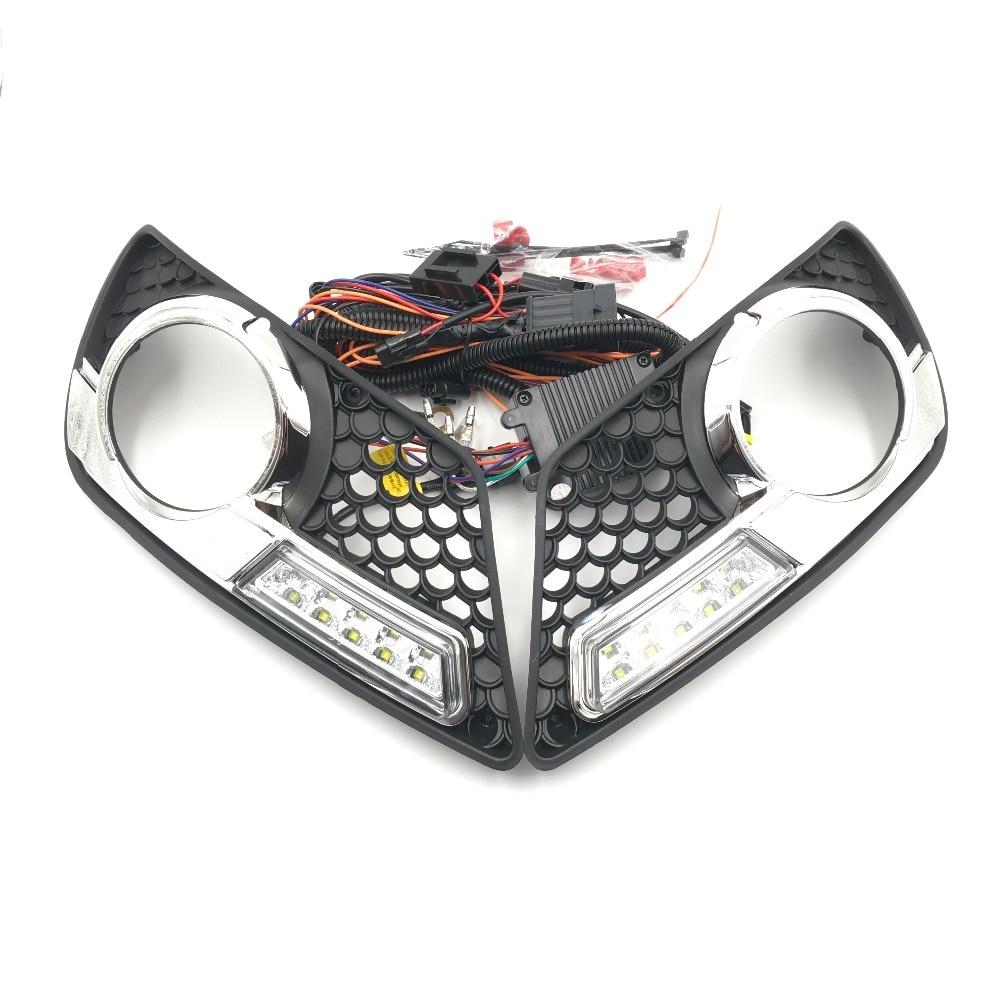For Benz W204 AMG 08-11 DRL Xenon White Headlights Kit Brand New LED Car Daytime Running Light 12V 5W*2 Cr High power 1100LM