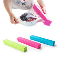 Kitchen Gadgets Foil And Cling Film Wrap Dispenser Cutter Storage Holder Plastic Box