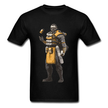 Apex Legends Caustic T-Shirt Nox Gas Trap Funny Retro Game New Tshirts Summer/Autumn T-Shirt Man Sweatshirts Crew Neck shirt gas shirt