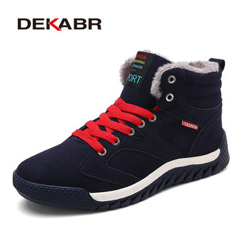 DEKABR Autumn Winter Men Canvas Boots Casual Style Fashion High-top Military Ankle Boots Men's Shoes Comfortable Sneakers