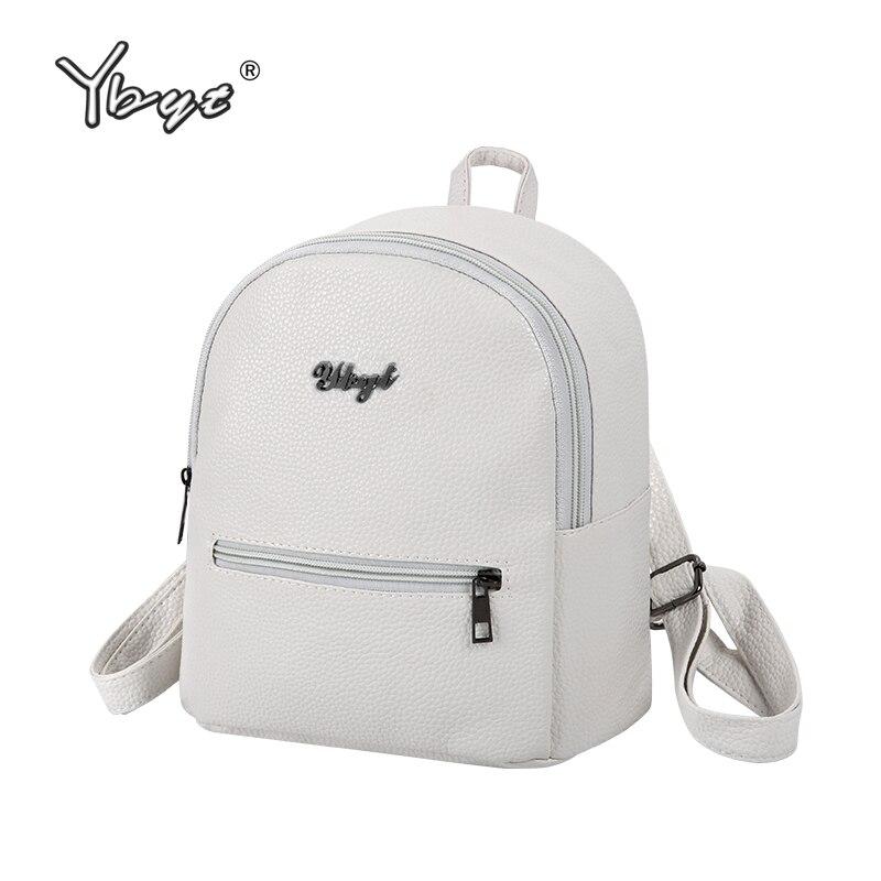 Ybyt marca 2018 nuevo estilo sólido mujeres kawaii mochila simple lychee patrón damas bolsa de viaje mochilas escolares estudiante