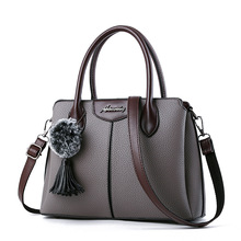 Fashion Shoulder Bag High Quality Handbag Women Tassel Bag Casual Large Capacity Tote Female Vintage PU Leather Crossbody bags fashion new large and cheap women bag high quality pu leather female shoulder bag vintage brown solid handbag for shopping daily