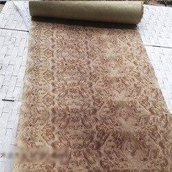 2.5Meter/pcs  Width:55cm  Thickness:0.3mm  Vintage Fragrant Tree Splicing Wood Veneer Decoration(back side kraft paper)