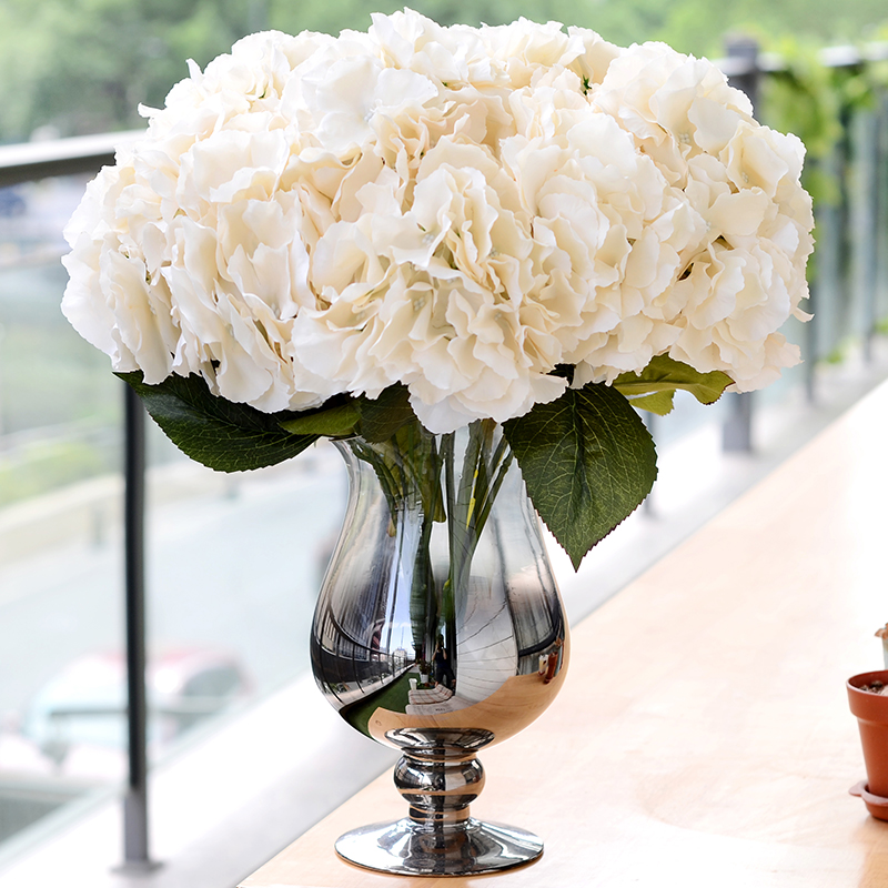 Artificial Decorations Aggressive Artificial Flowers For Wedding Hydrangea Silk Flower Bouquet For Home Garden Party Birthday Decoration 5 Heads/bunch
